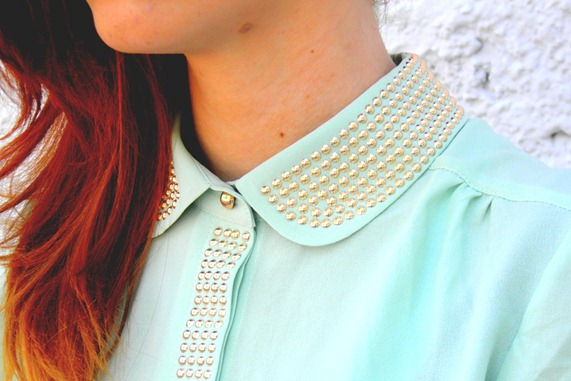 JOVONNISTA STUDDED COLLAR SHIRT