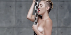 Miley Cyrus se quita toda la ropa en su nuevo clip (Video)