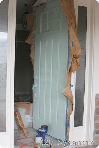 painting a front door