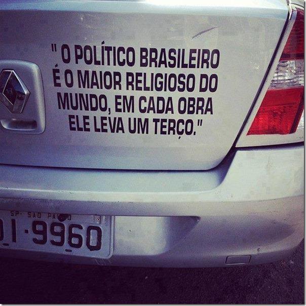 o politico brasileiro é o maior religioso do mundo