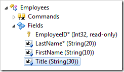 Title field of Employees controller in the Project Explorer.