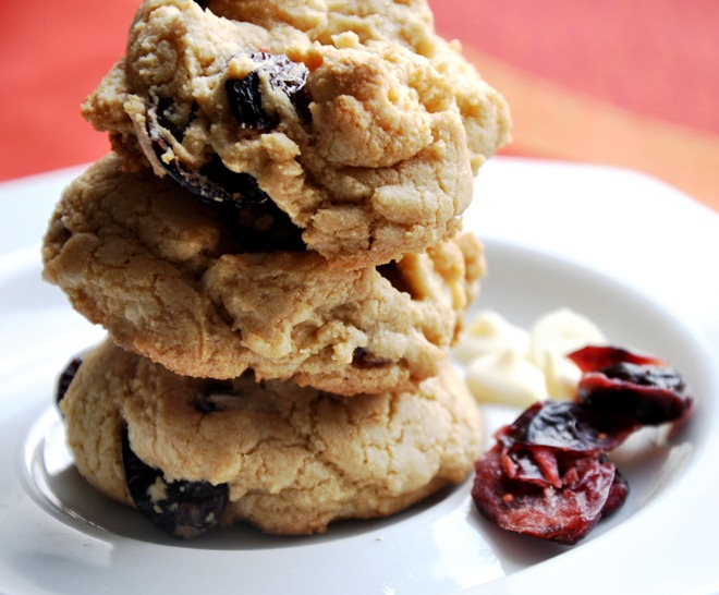 cranberry white chocolate chip cookies 123