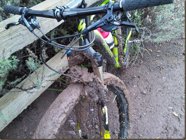 muddy mountain bike