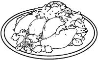 Molotes con salsa y verdura