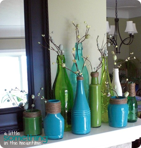 Painted Spring Bottles