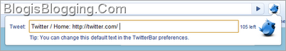Twitter Bar Google Chrome Extension