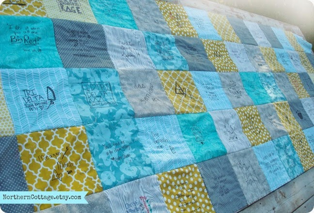 {NorthernCottage} Rag Quilt Reversible Back - Signed Quilt