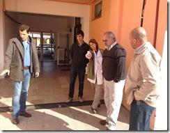 Juan Pablo de Jesús supervisó obras en la Escuela Primaria Nº 7 de San Bernardo