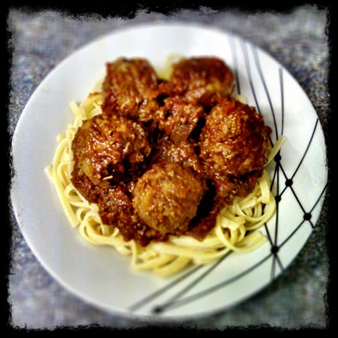 Beef meatballs with rosemary tomato ragu