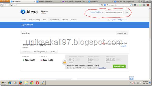 cara verifikasi blog ke alexa terbaru