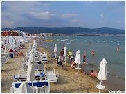 Городской пляж. Солнечный Берег. Болгария. www.timeteka.ru