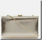 Dune Pale Gold Snake Print Clutch