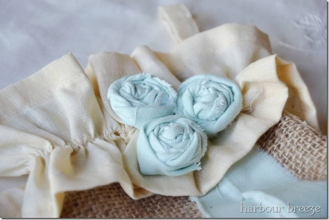 tattered fabric flowers ps