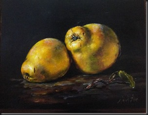 Quinces . Wood 8.5x11 inches
