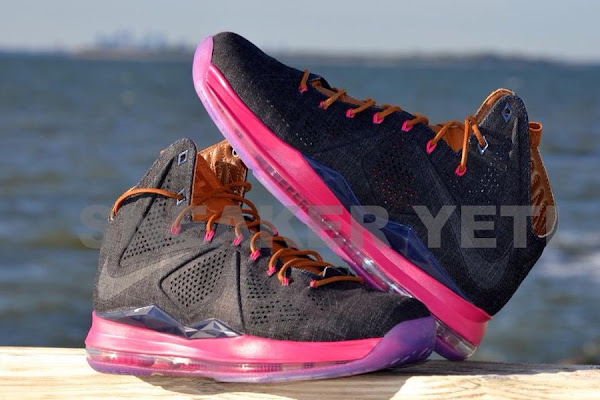 Detailed Look at Nike Sportswear8217s LeBron X Denim amp Pink