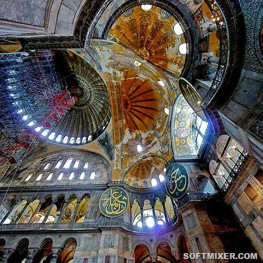 Внутренний-вид-сводов-собора-вятой-софии-в-стамбуле