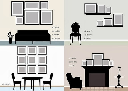 Room Vignettes with Gallery wall layouts