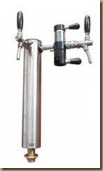 оборудование для розлива пива/кваса из кег: колонная для розлива пива/кваса на 2 крана/выхода