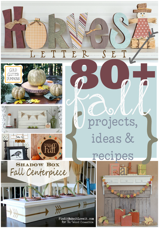 80  Fall Projects, Ideas & Recipes at GingerSnapCrafts.com #linkparty #features #fall