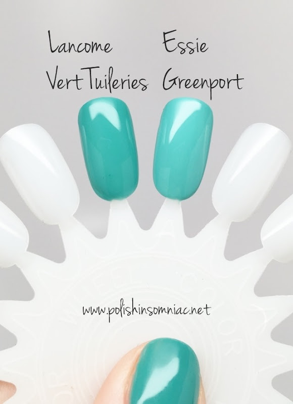 Lancome Vert Tuileries vs Essie Greenport