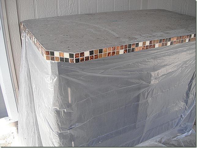 tiled concrete edge