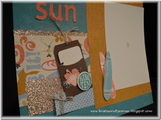 Surf's Up layout_middle of layout close up
