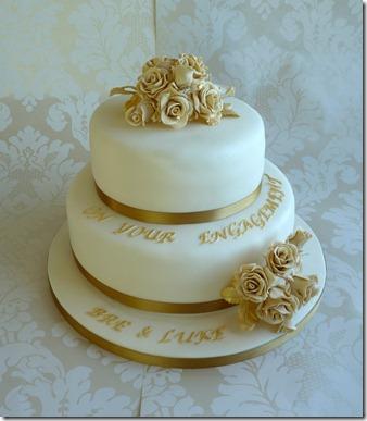 Engagement Cake 2 teir roses