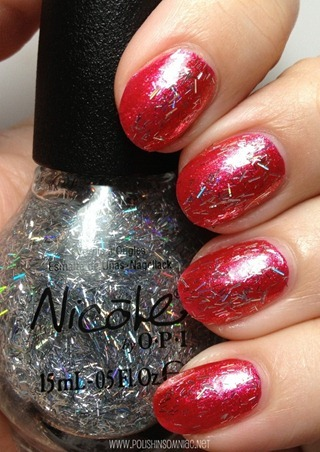 Nicole by OPI Stars at Night over Scarlet