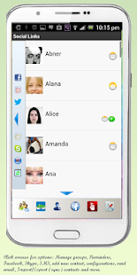 Social Links - Contacts - screenshot