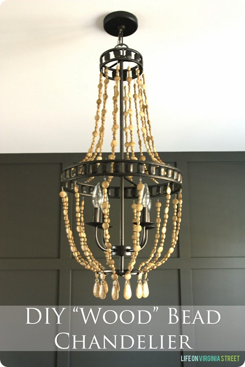 Virginia DIY Wood Bead Chandelier Image