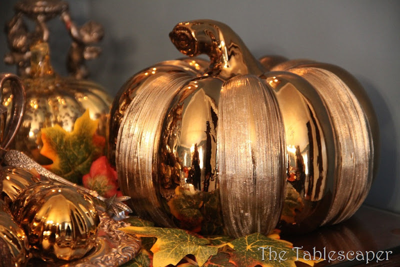 Fall Metallic Dining room 008