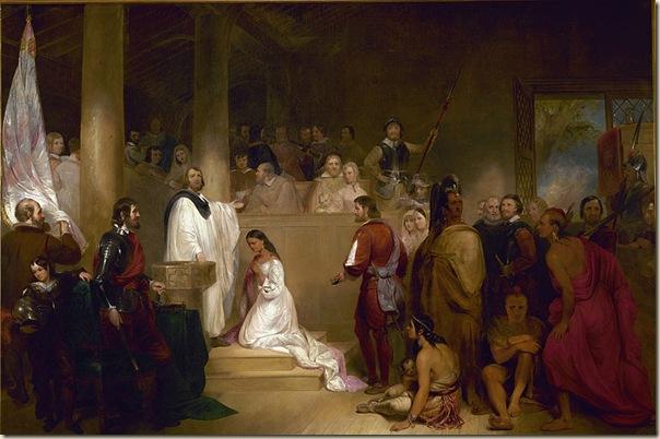 Baptême de Pocahontas