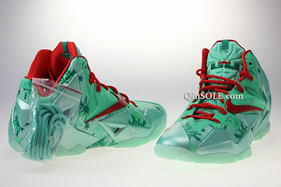 nike lebron 11 gr christmas 2 04 Release Date // Nike LeBron XI (Day After) Christmas Edition