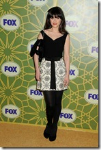2.-Zooey-Deschanel-in-Black-and-White-Dress