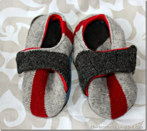 Sweater Refashioned to Slippers