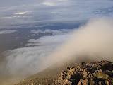 Cloud rolls in on Gunung Slamet (Daniel Quinn, April 2010)
