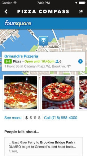 Pizza compass nearest discover around ios1