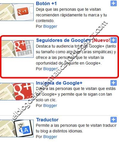 Agregar panel de seguidores de #GooglePlus