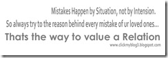 heart touching, inspirational Mistakes Happen by Situation, not by Intension