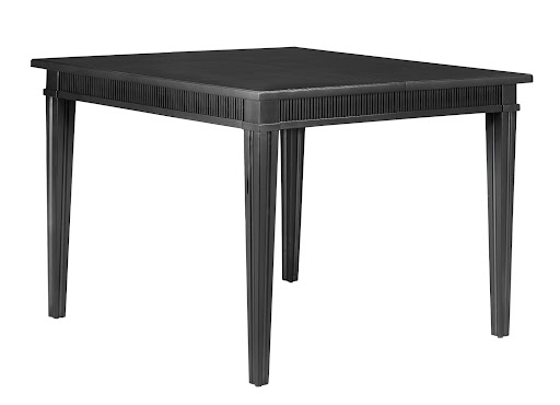 The Larsson Dining Table has an 18-inch removable leaf to conveniently help with saving space or accommodating more guests.