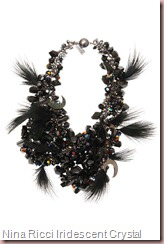 Nina Ricci Iridescent Crystal Necklace