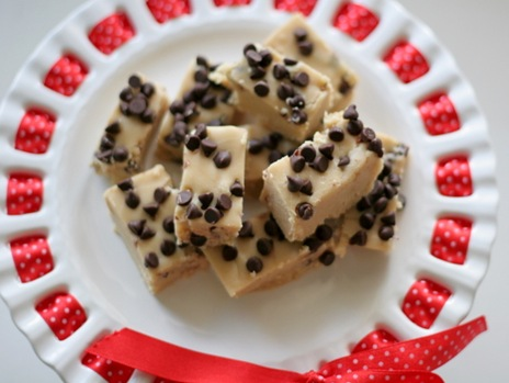 chocolate chip cookie dough fudge 1
