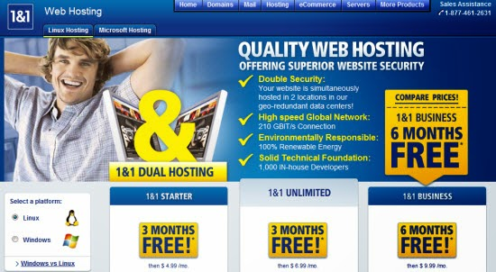 1&1 webhosting