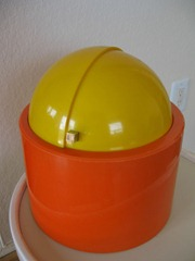 Nicholas Angelakos ice bucket, orange and yellow