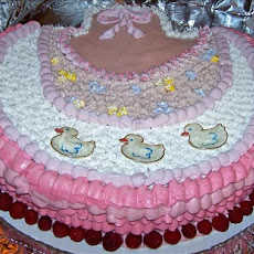 Beautiful Baby Girl Bib Cake