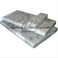 "Silver Travertine Pool Coping, 24"" x 12"" x 2"". Tumbled Finish."
