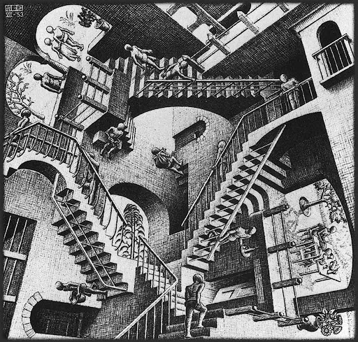 Escher Relativity Lithograph