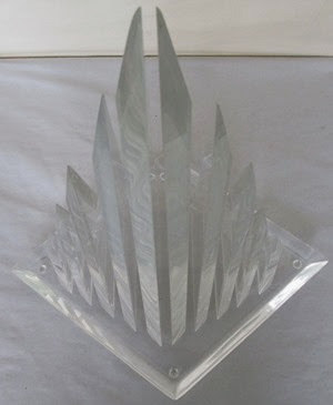 Hivo G Van Teal 10 spire Lucite sculpture top
