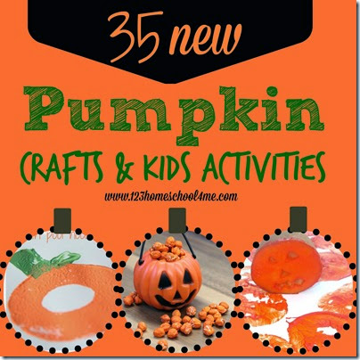 35 new pumpkin crafts and kids activities #pumpkin #fallcraftsforkids #kidsactivies #preschool #play