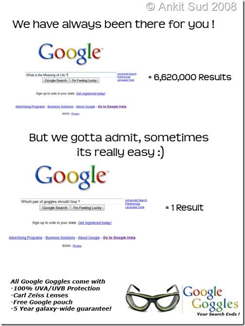 Google Goggle Ad
